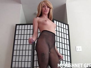 Me feel so very naked My skin tight fishnets make me feel so sexy joi