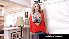 Cum Stretch With Milf Julia Ann As She Bangs Her Mature Muff