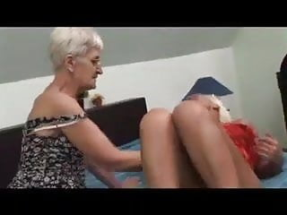 Horny lesbian wife Two horny lesbian grannies eat pussy