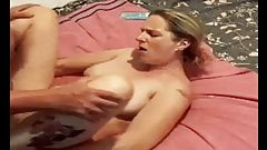 Mom getting fucked hard and makes guy cum in her