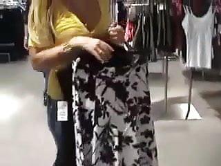 Amature porn shop Amateur porn shop fitting room