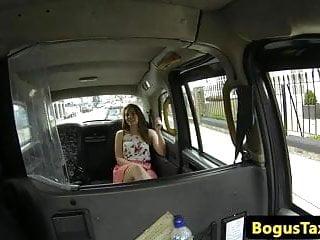 Sex cab Skanky nipplepierced amateur fucked on backseat of cab