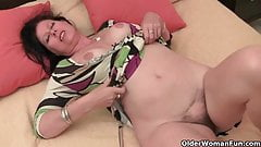 Busty old lady needs to get off