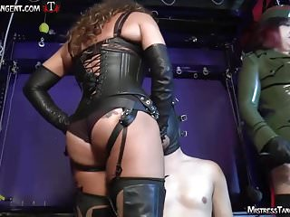 Consequences of male masturbation Femdom mistresses unite for strap-on training of male slave
