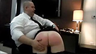 Chubby Wife Spanked For Gambling