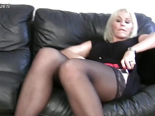 Busty lesbian granny - Hot busty mother fucks another mature mother