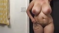 Mammoth Jugged Hourglass Housewife Caught On Hidden Camera