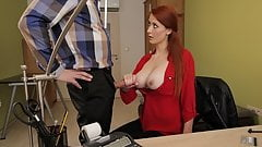 LOAN4K. Loan agent gets access to beautiful pussy of redhead