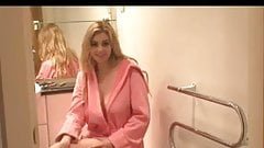 Bathroom interuption. JOI