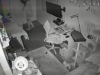 Teen bedroom hidden cam Ip cam - teen bedroom - changing