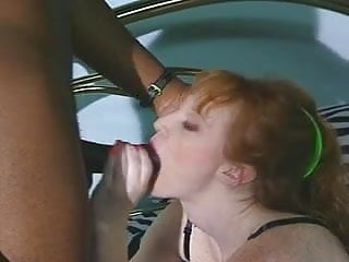 Flaming ass Flame - natural redhead interracial
