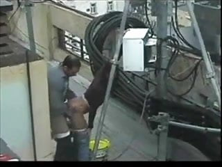 Young couple caught on camera sex Couple caught on security cam