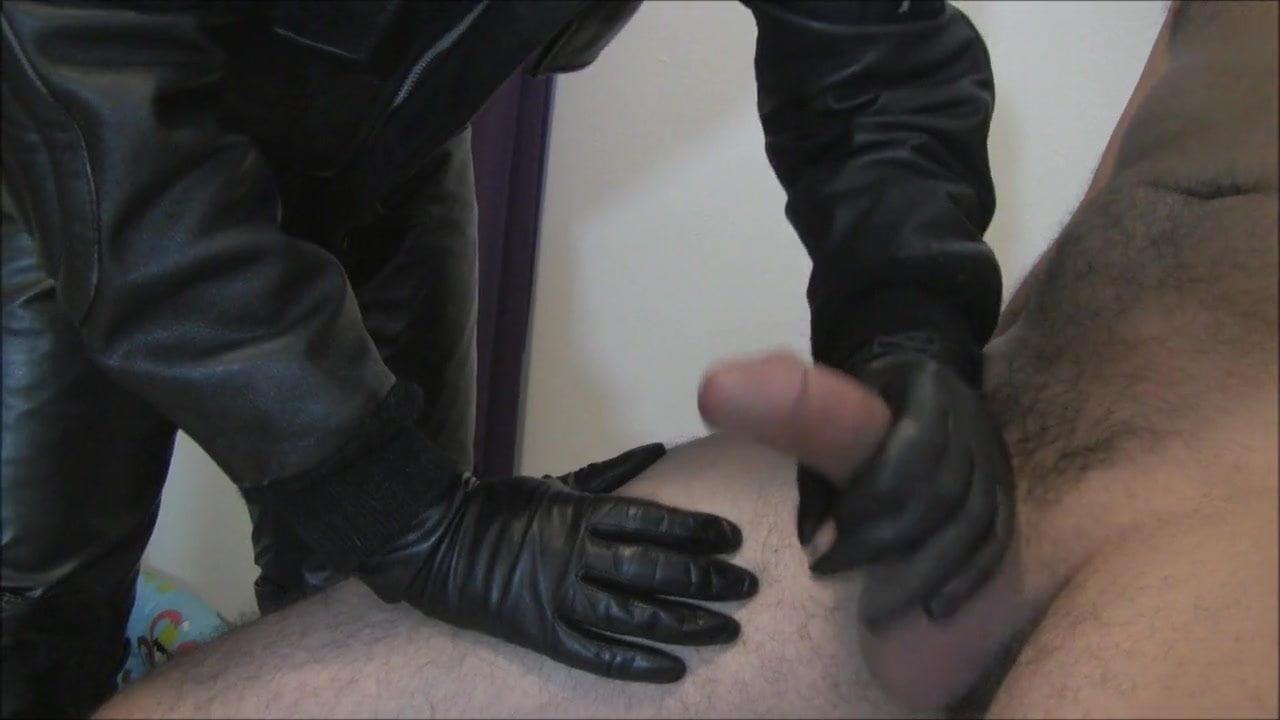 Video leather glove sex