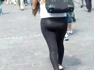 Nudist see through lingerie - See through leggings thong walking the streets