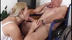 Nasty Nurse Fucks Old Guy
