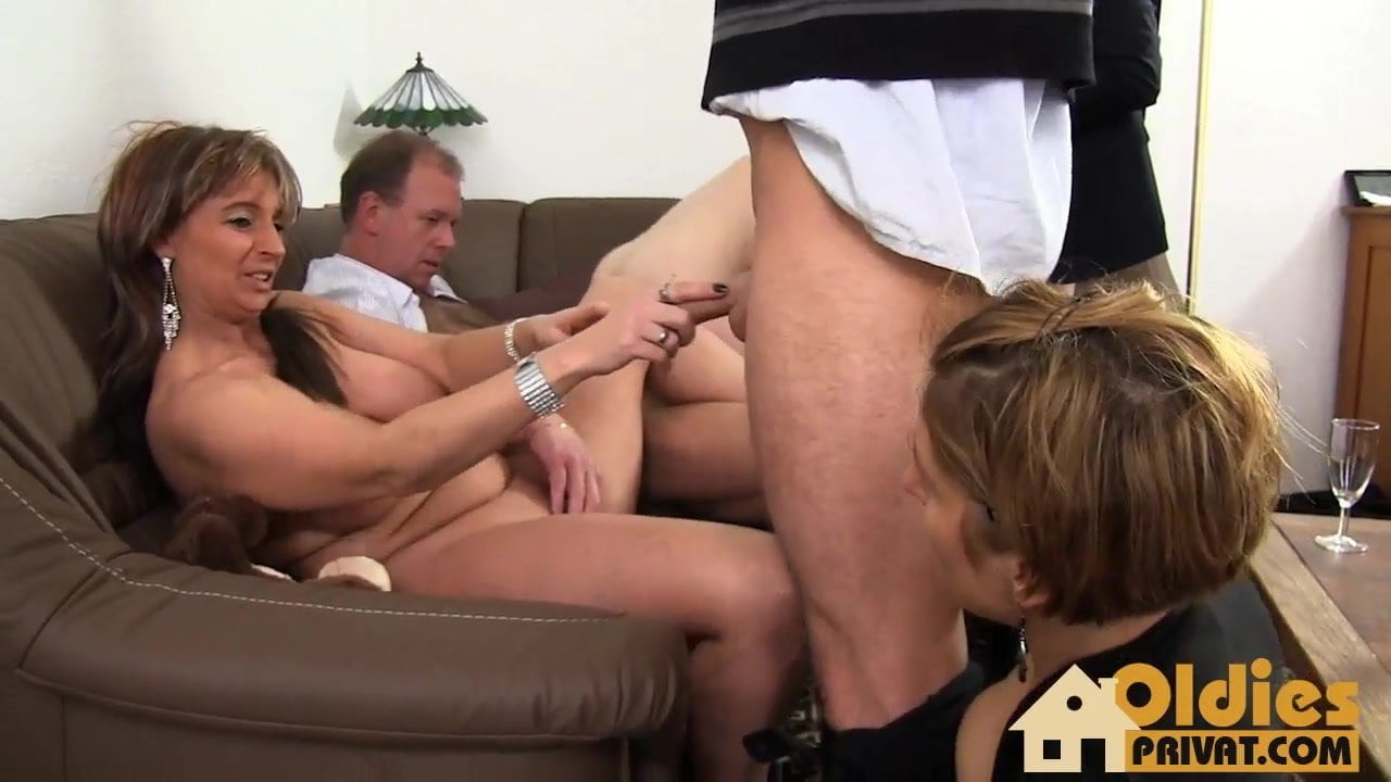 German Mature Creampie Orgy
