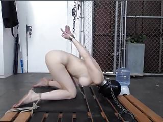 No bottom enema - Slave greyhound receives a huge enema