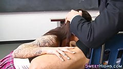 Tattooed college skank gets pounded