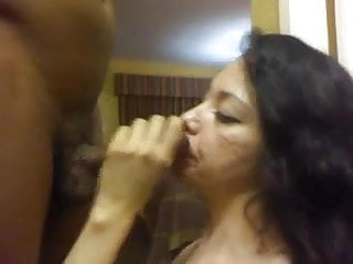 Leah dizon sucking dick Hungry milf sucking dick swallowing bbc cum