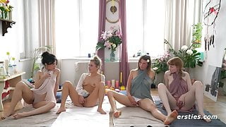 Ersties – Squirting Workshop With 4 Red Hot Amateurs