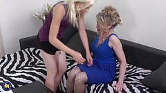 Mature wife spoiling teen girl