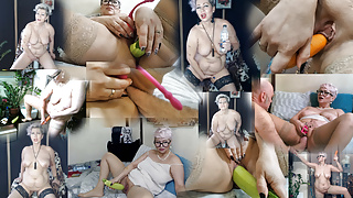 My slutwife Aimee & extreme insertions .!.