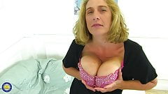 Yummy mom with big and natural boobs
