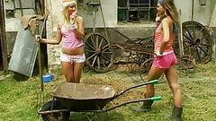 Teens at the farm lesbian