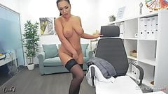 Josephine (Josephyne) black stocking high heels & fingering