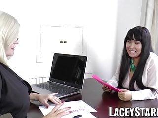 Luscious lesbians Laceystarr - luscious asian pussy scissored by granny
