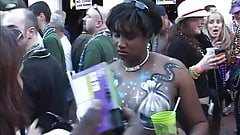 Chicks flash tits for beads at Mardi Gras