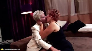 Five mature step moms and hairy grannies fucked by young boy