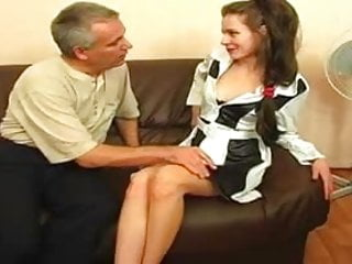 Free clips of midget - Two clips of young brunettes fucked by older men