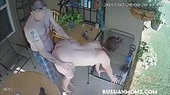 Russian neighbors quick fuck