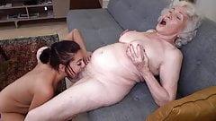 Old 86yo and young 19yo lesbian