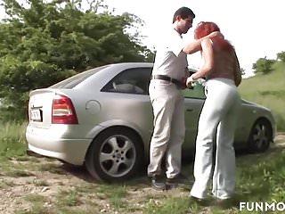 Group busty amateurs - Busty german moms fuck in public park