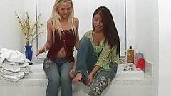 Shannon & Destiny in Shower