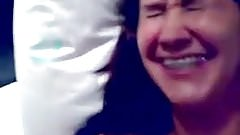 Brazilian chick laughing while getting facial