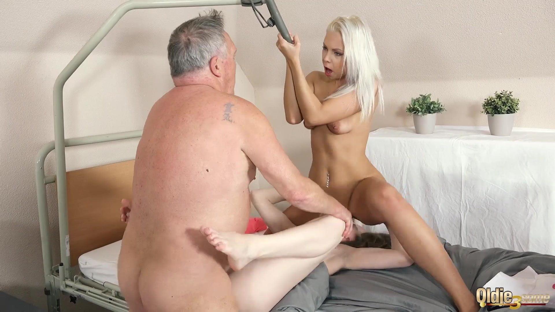 Wife Pegging Husband Threesome