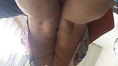 Upskirt mature ass