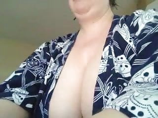 Breast hang out - Busty teacher lets her tits hang out pt2