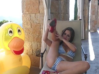 Curly redhair ducky porn Emily addison - lucky ducky