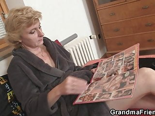 Fat old lady porn wex with men Two delivery men bang old lady