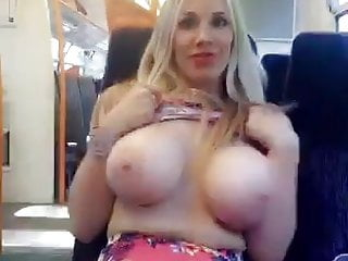 Slut fondled on train Name the whore- uk slut flashes tits on train- who is she