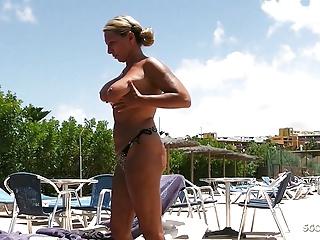 Topless milf Huge Tits,