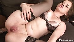 Sexy brunette in lingerie likes his hard bbc