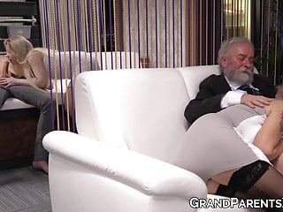 Mature and young couples - Old and young couple end up pounding in hardcore foursome