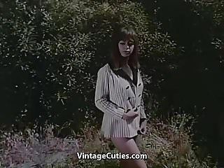 Young teens outdoor nudes Nude photo session of adorable teen 1960s vintage