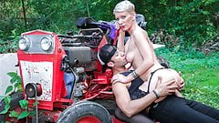 LA COCHONNE Sexy Cougar Mia Wallace Tries Anal With A Farmer