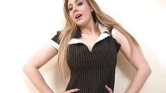 Curvy Sapphire looks smoking hot in a maid's uniform
